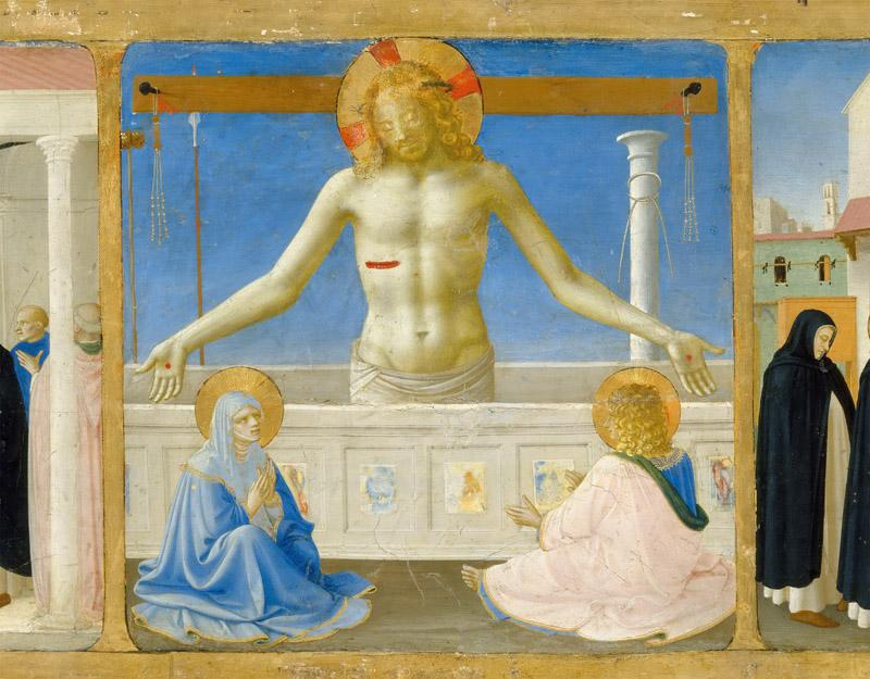 Fra Angelico -- Coronation of the Virgin Predella Christ Rising from the Tomb (Christ in the Tomb)