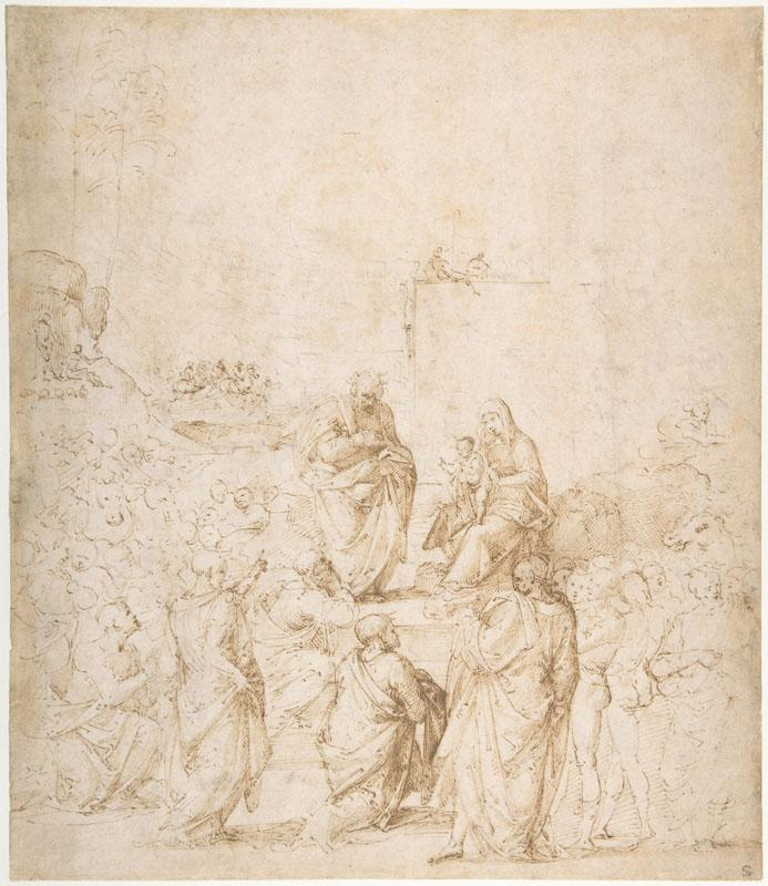Fra Bartolomeo--The Adoration of the Magi