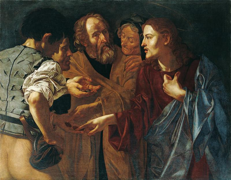 Francesco Boneri, known as Cecco del Caravaggio - The Tribute Money, c. 1618-20
