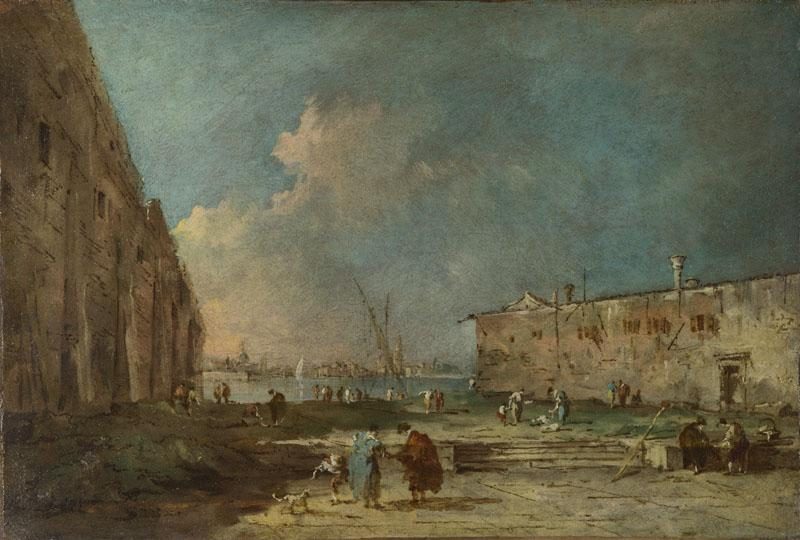 Francesco Guardi - A View near Venice