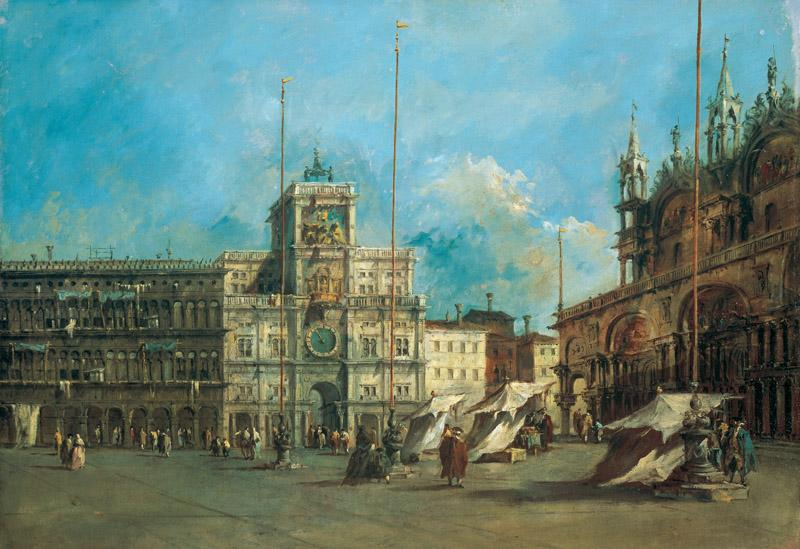 Francesco Guardi - St. Mark Square in Venice with the Clocktower, betw. 1770 and 1775