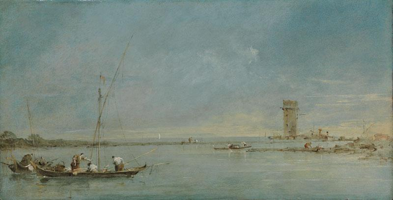 Francesco Guardi - View of the Venetian Lagoon with the Tower of Malghera