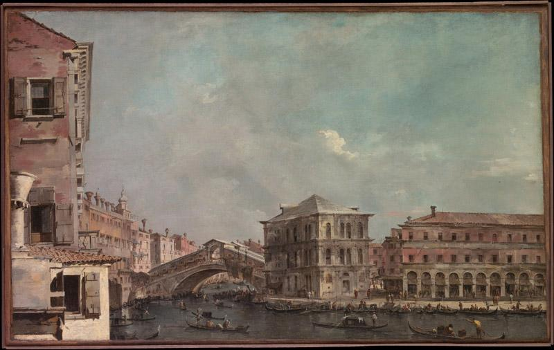 Francesco Guardi--The Grand Canal above the Rialto