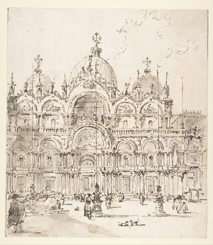 Francesco Guardi--View of Piazza with Basilica of San Marco