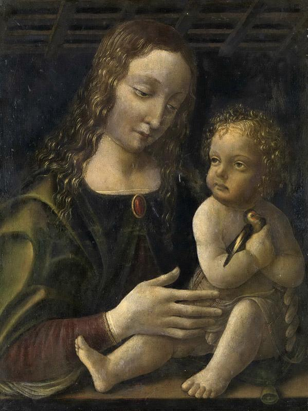 Francesco Napoletano -- Maria met kind, 1490-1510