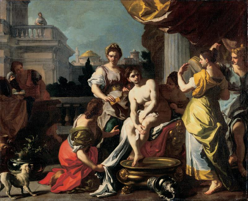 Francesco Solimena - Bathsheba Bathing, c. 1725
