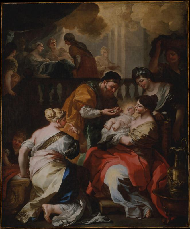 Francesco Solimena--The Birth of the Virgin