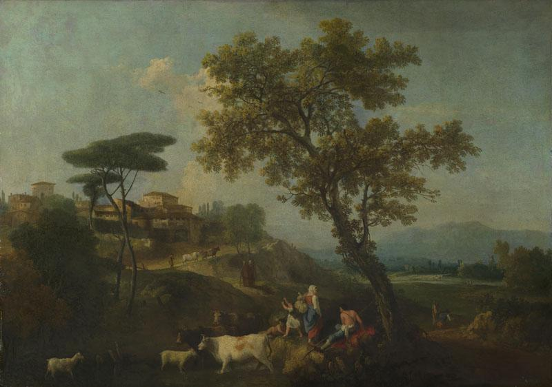 Francesco Zuccarelli - Landscape with Cattle and Figures