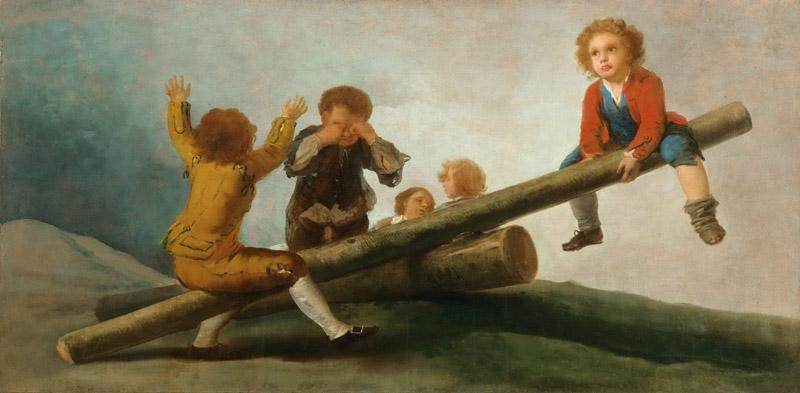 Francisco Jose de Goya y Lucientes, Spanish, 1746-1828 -- The Seesaw