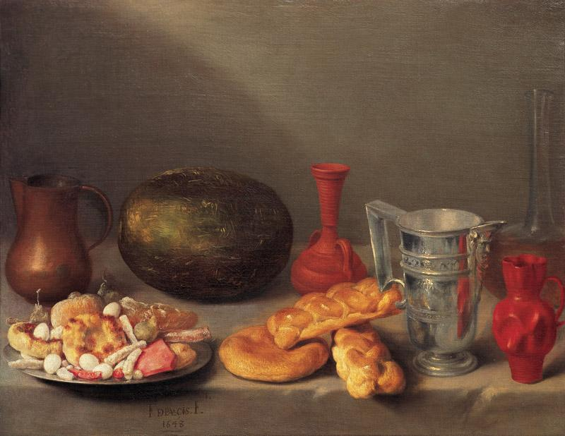 Francisco de Palacios - Still Life with Bread Roll, 1648