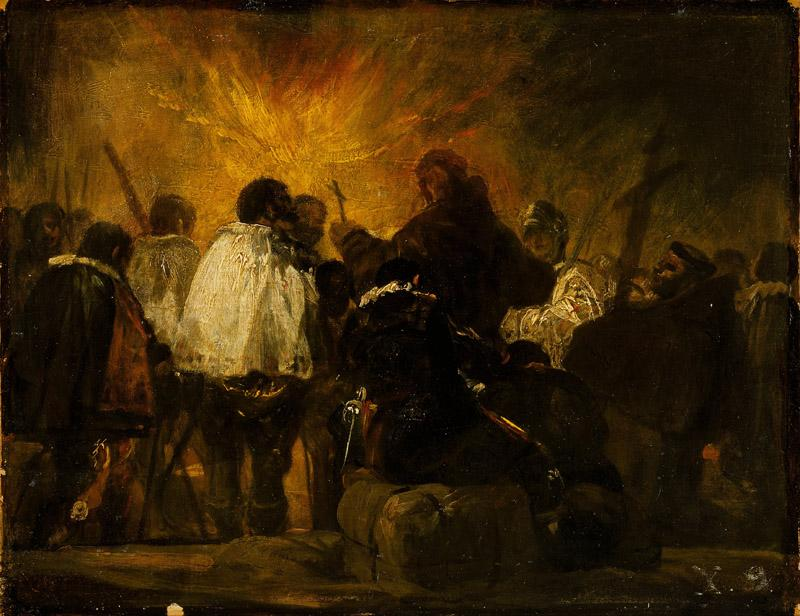 Francisco Goya - Night Scene from the Inquisition