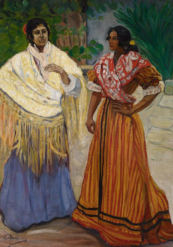 Francisco Iturrino Two Gypsies