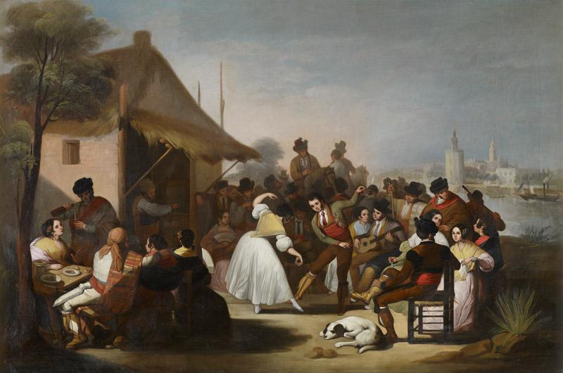 Francisco de Paula Escribano A Dance in Triana