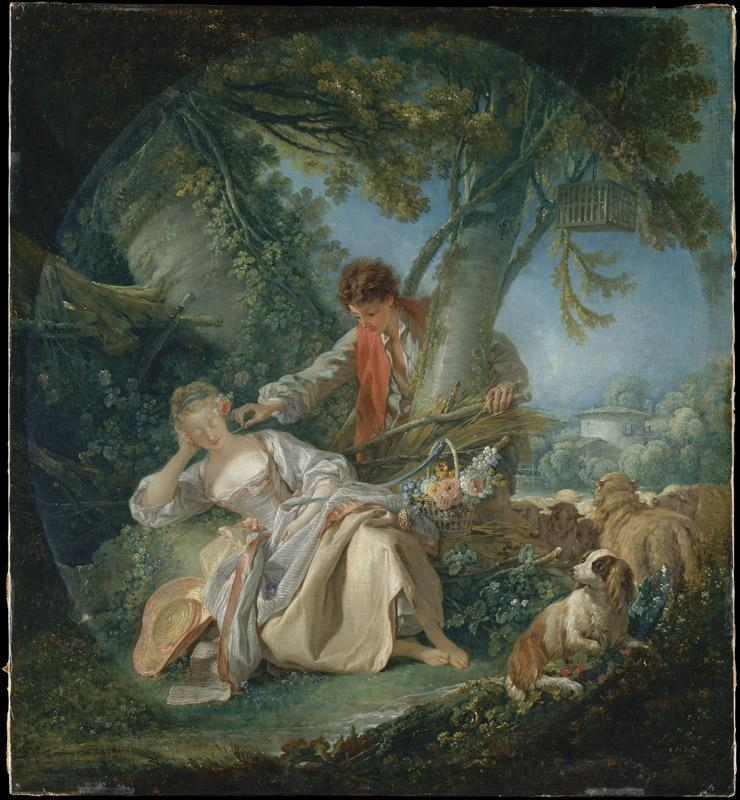 Francois Boucher--The Interrupted Sleep