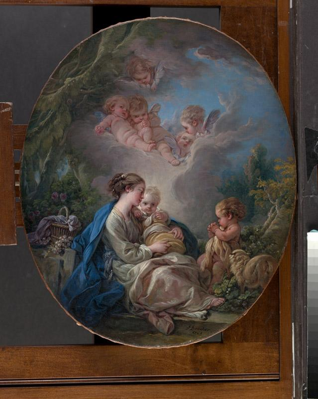 Francois Boucher--Virgin and Child with the Young Saint John the Baptist and Angels