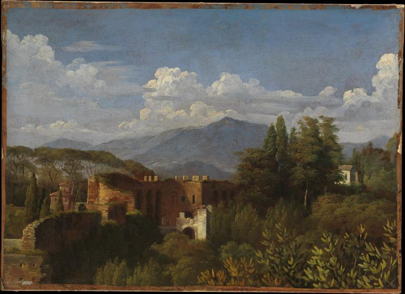 Francois-Edouard Picot--View of Porta Pinciana from the Gardens of the Villa Ludovisi