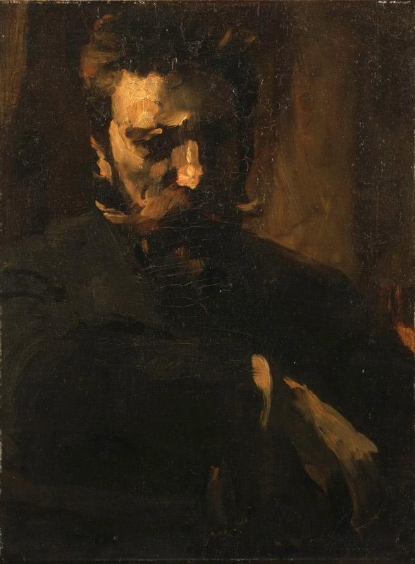 Frank Duveneck, American, 1848-1919 -- Portrait of William Merritt Chase