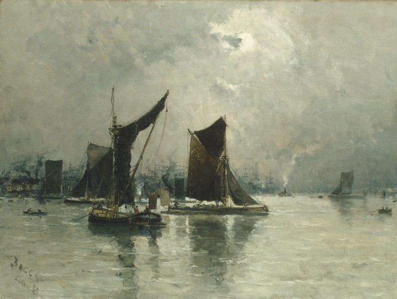 Frank Myers Boggs--On the Thames