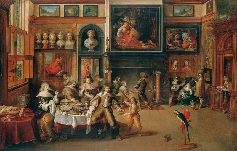 Frans Francken, the Younger - Banquet in the House of Nicolaas Rockox, c
