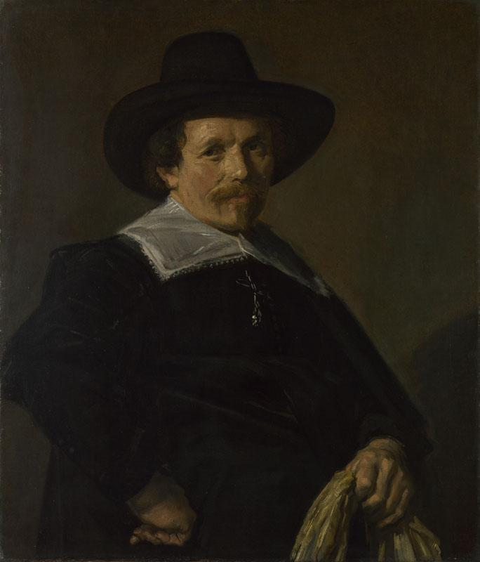 Frans Hals - Portrait of a Man holding Gloves