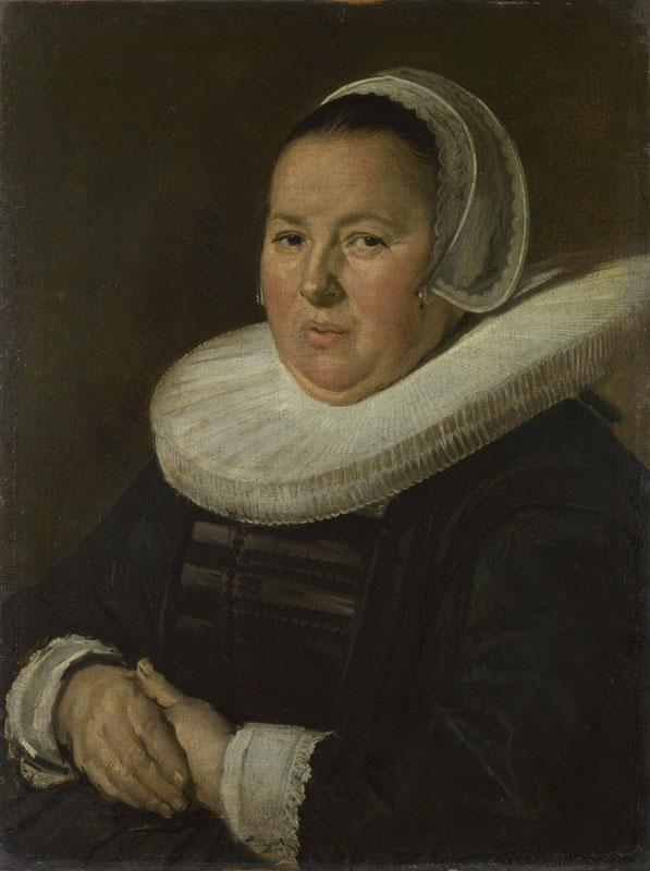 Frans Hals - Portrait of a Middle-Aged Woman with Hands Folded