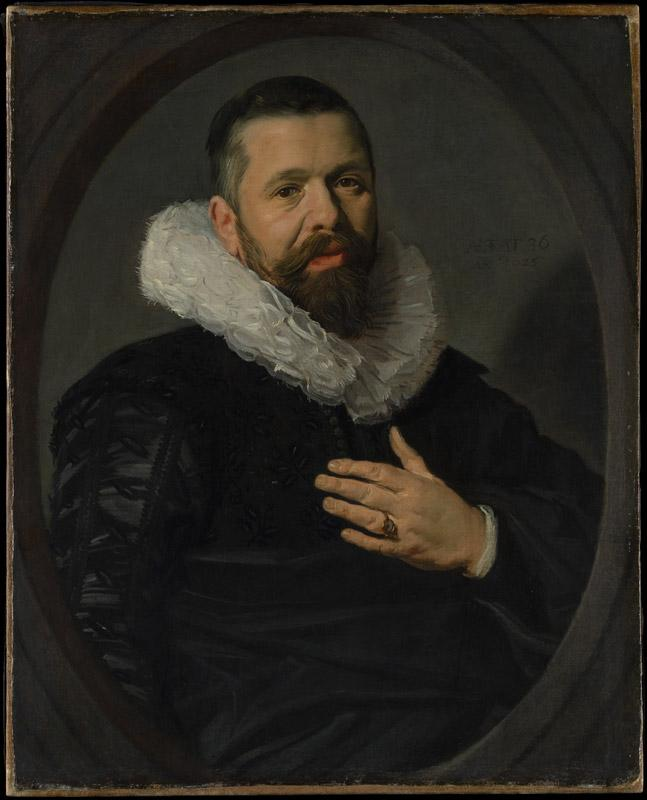 Frans Hals--Portrait of a Bearded Man with a Ruff