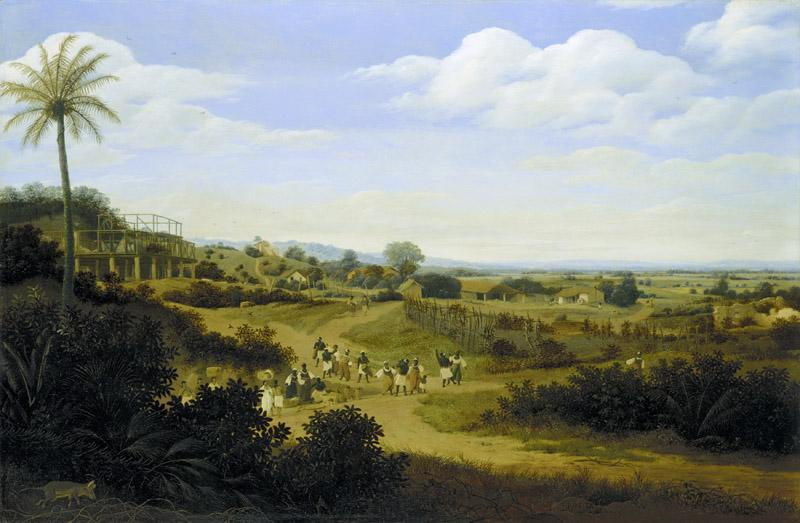 Frans Post - Brazilian Landscape with a House under Construction