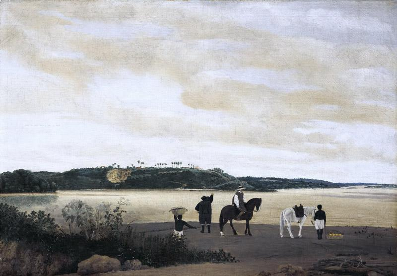 Frans Post - View of Itamaraco Island in Brazil