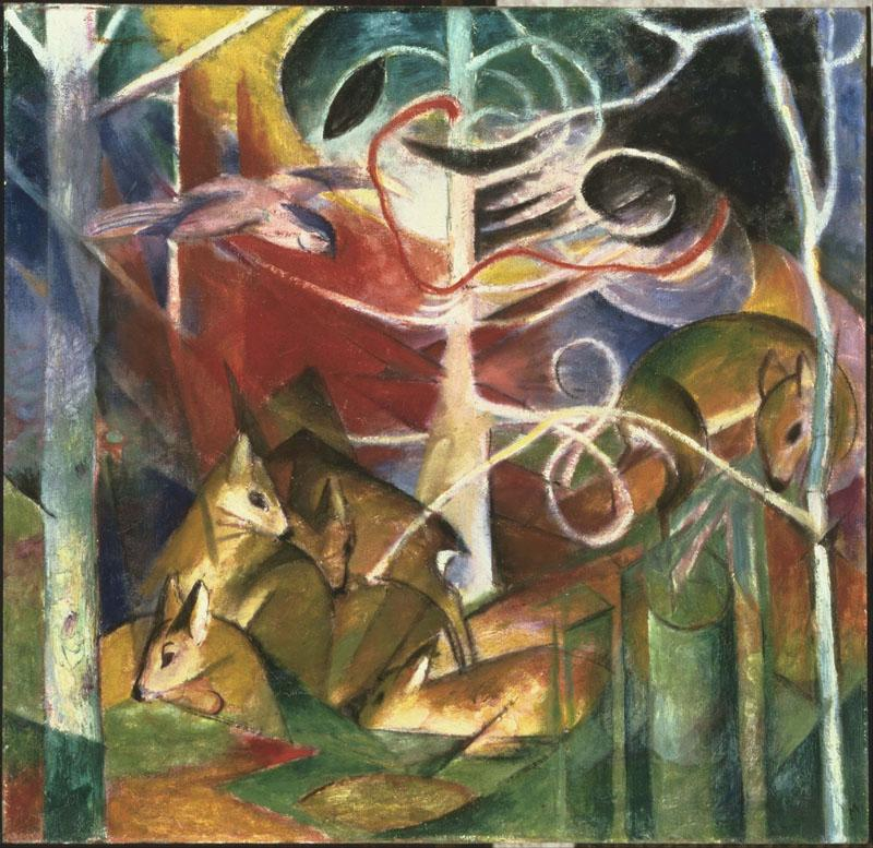 Franz Marc (18801916)-Deer in the Forest I
