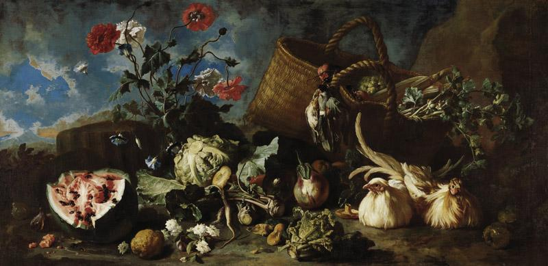 Franz Werner Tamm - Flowers, Fruit and Poultry, 1707