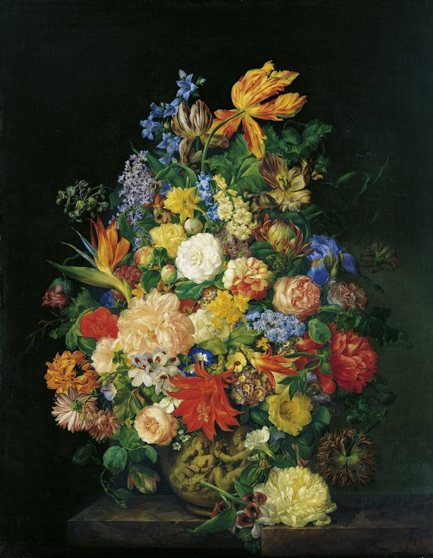 Franz Xaver Petter - A Bouquet in a Vase, 1845