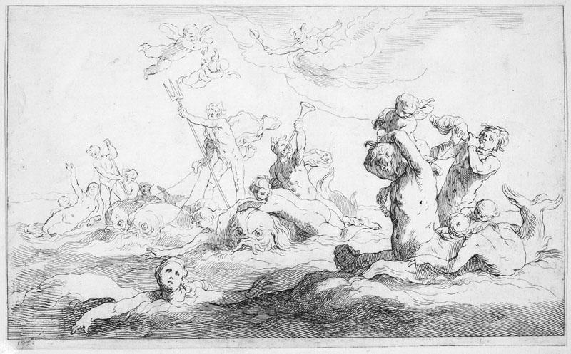 Frederick Bloemaert--The Realm of Neptune, from Drawing Book