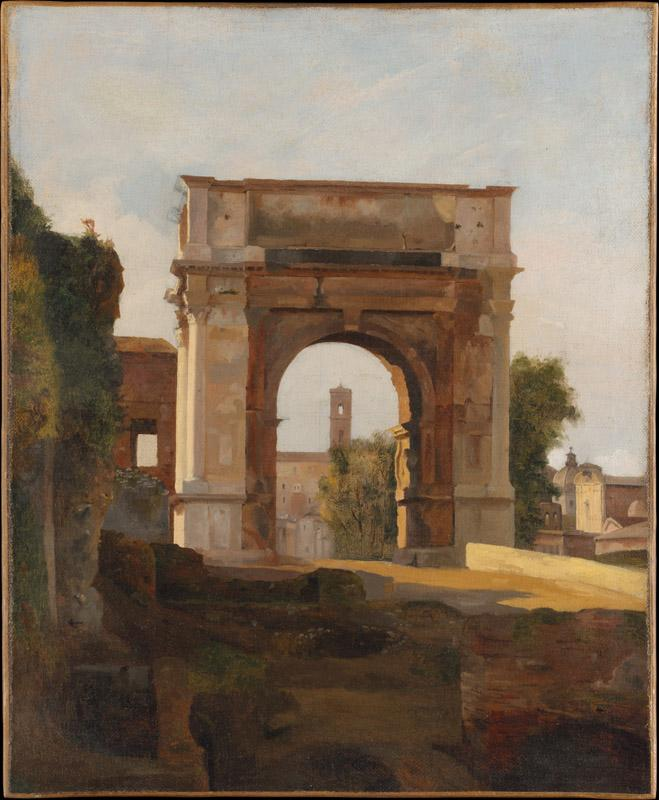 French Painter, early 19th century--The Arch of Titus and the Forum, Rome