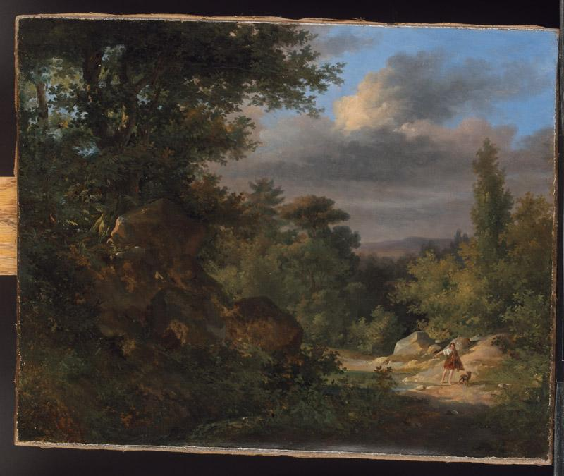 French Painter--Landscape with a Shepherd