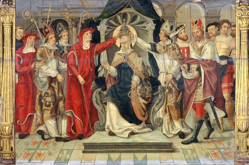 French School formerly considered Flemish -- Coronation of Pope Celestine V in 1294