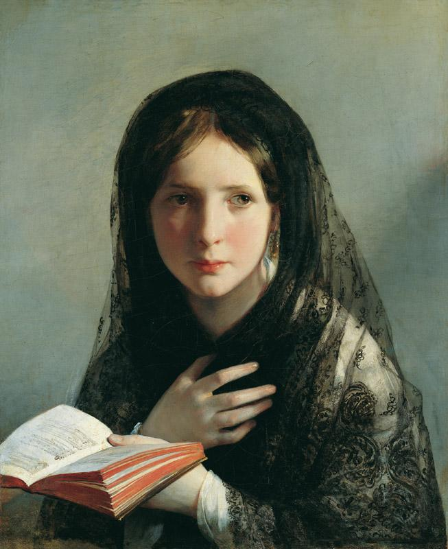 Friedrich von Amerling - Lost in Her Dreams, c