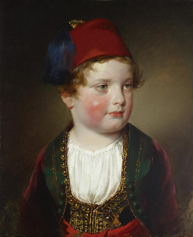 Friedrich von Amerling - Portrait of Prince Victor Odescalchi (1833-1880) in Greek costume at the