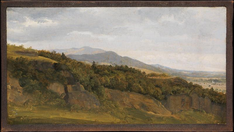 Fritz Petzholdt--German Landscape with View towards a Broad Valley