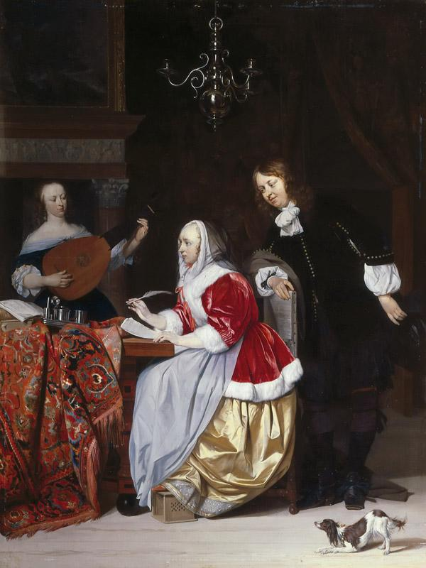 Gabriel Metsu - A Young Woman Composing a Piece of Music