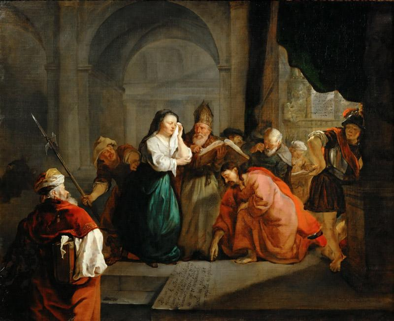 Gabriel Metsu -- Christ and the Adulteress