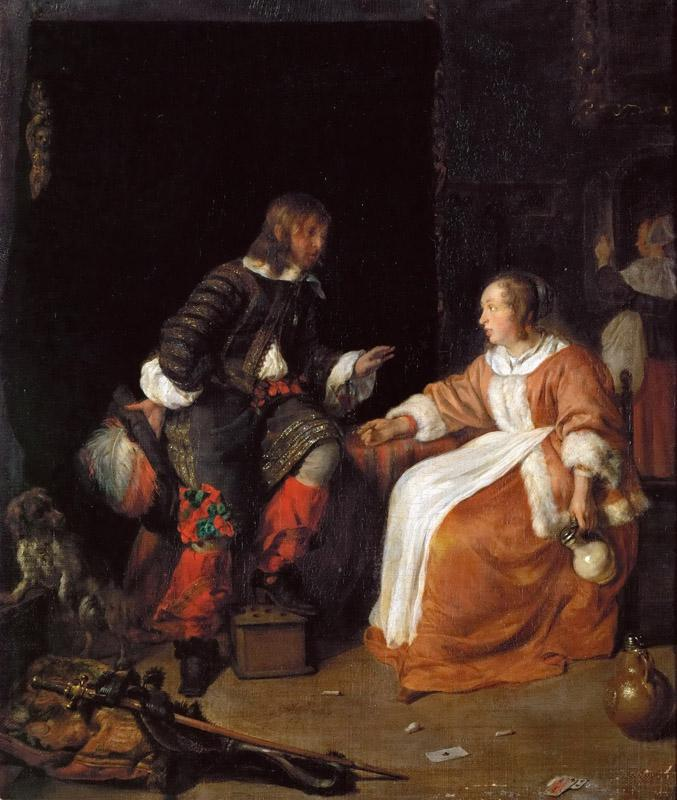 Gabriel Metsu -- Lady and Officer