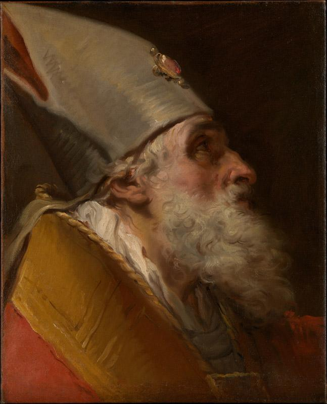 Gaetano Gandolfi--Head of a Bishop
