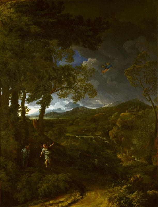 Gaspard Dughet - Landscape with Elijah and the Angel