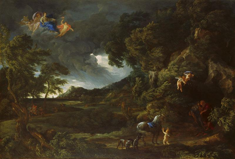 Gaspard Dughet and Carlo Maratta - Landscape with the Union of Dido and Aeneas