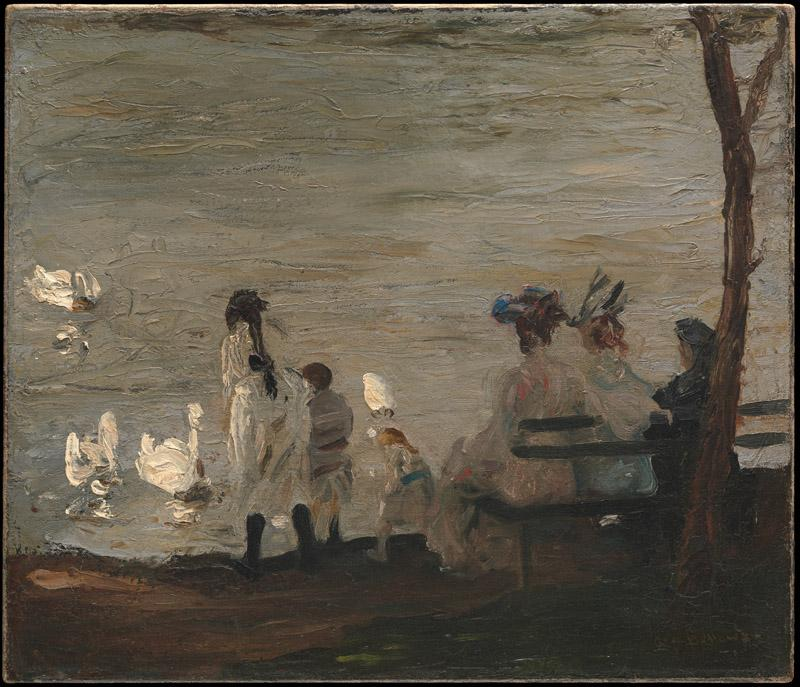 George Bellows--Swans in Central Park