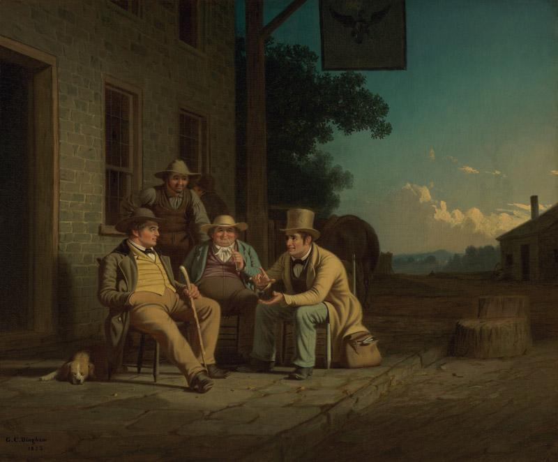 George Caleb Bingham - Canvassing for a Vote, 1852