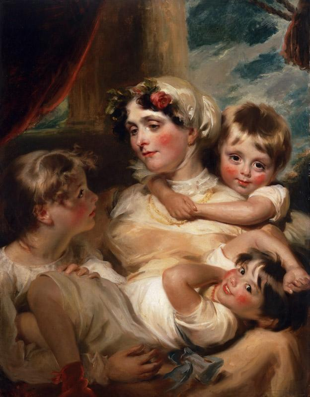 George Henry Harlow, English, 1787-1819 -- Portrait of a Mother and Her Children