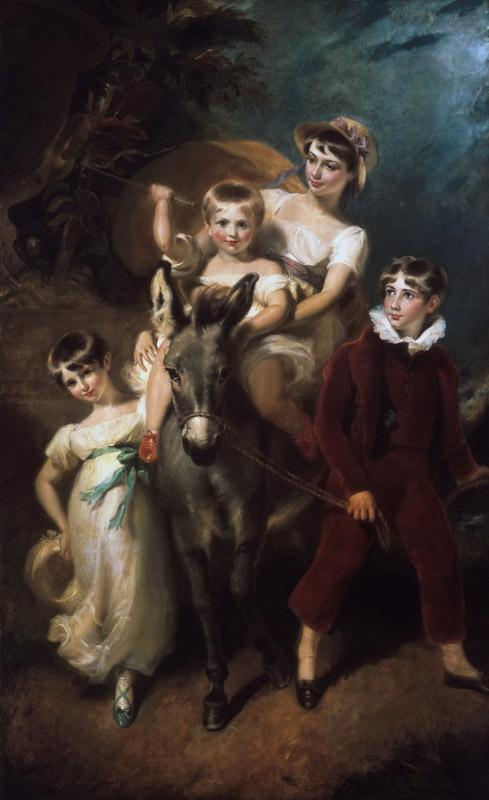 George Henry Harlow, English, 1787-1819 -- Portrait of the Leader Children