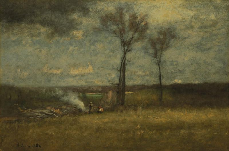 George Inness - Brush Burning, 1884