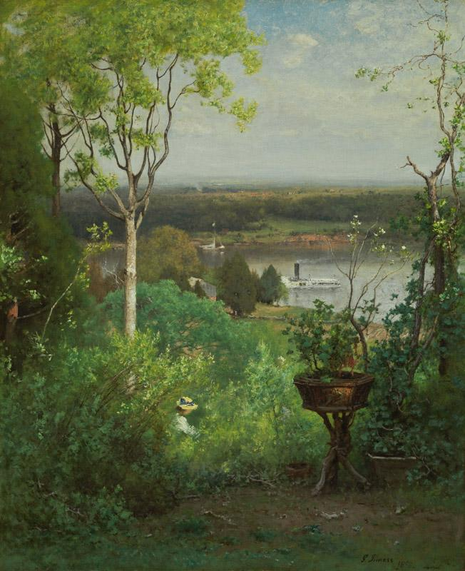 George Inness - Looking Over the Hudson at Milton, ca. 1886-1888